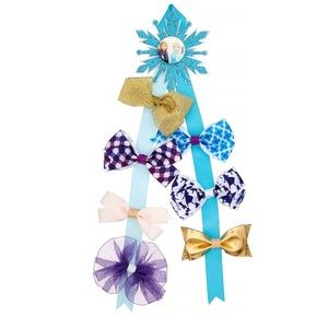 2/$15 Frozen Ribbon Hair Bow Holder w/ 7 Hair Bows